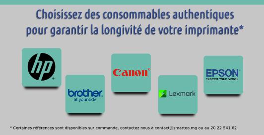 Choississez des consommables authentiques pour garantir la longivité de votre imprimante