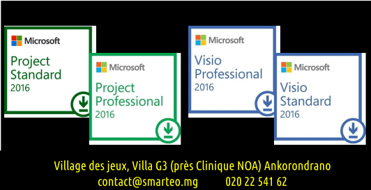 Microsoft Visio standard, Visio Pro, Project Standard, Project Pro