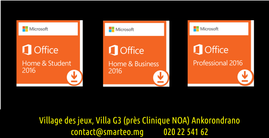 Microsoft Office 2016, Home and student, Home and business, Pro