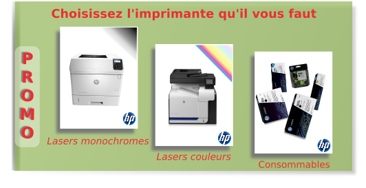 HP, Imprimantes, consommables,serveurs