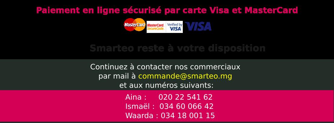 acheter en toute sécurité en ligne par carte VISA ou MasterCard